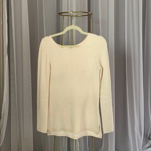 JCREW blush & cream sweater
